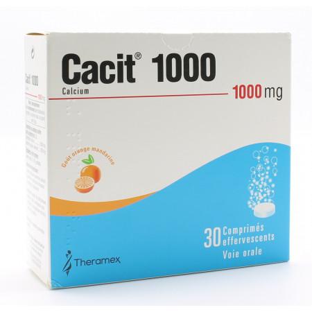 Cacit 1000mg 30 comprimés effervescents - Univers Pharmacie