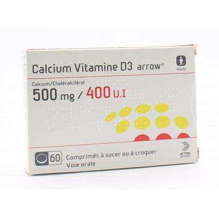 Calcium Vitamine D3 Arrow 60 comprimés - Univers Pharmacie