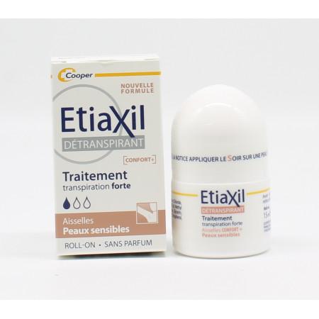 Etiaxil Détranspirant [Confort+] Roll-on Transpiration Forte Peaux Sensibles 15ml - Univers Pharmacie