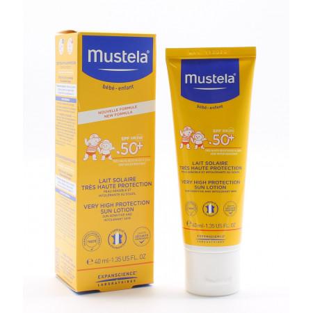 Mustela Bébé-Enfant Lait Solaire Très Haute Protection SPF50+ 40ml - Univers Pharmacie
