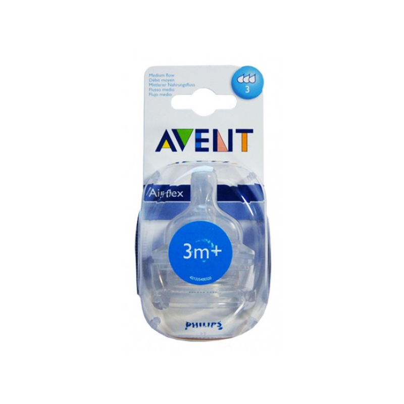 Tétine Avent Classic+ débit moyen 3M+ Philips X2