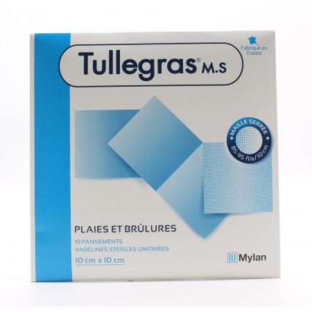 Tullegras M.S Plaies et Brûlures 10cmX10cm 10 pièces - Univers Pharmacie