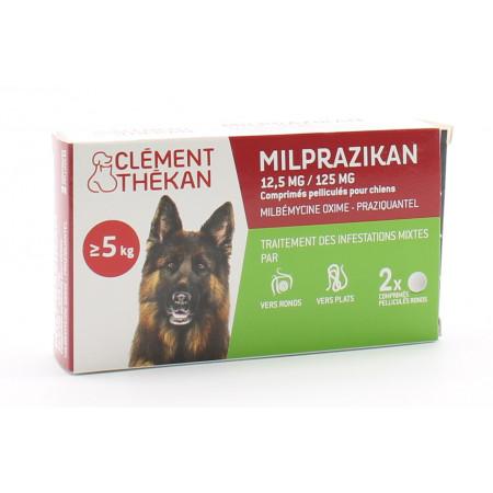 Clément Thékan Milprazikan 12,5mg/125mg Chien 2 comprimés - Univers Pharmacie