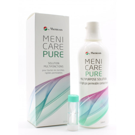 Menicon MeniCare Pure Solution Multifonctions 250ml - Univers Pharmacie