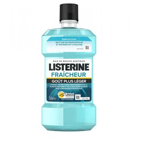 Listerine Fraîcheur Goût Plus Léger Bain de Bouche 250ml