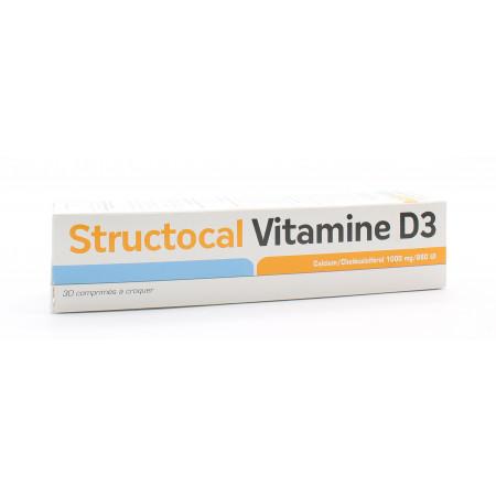 Structocal Vitamine D3 30 comprimés - Univers Pharmacie