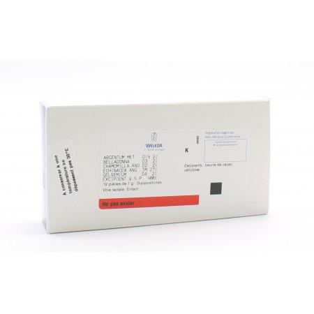 Weleda C354 12 suppositoires enfant - Univers Pharmacie