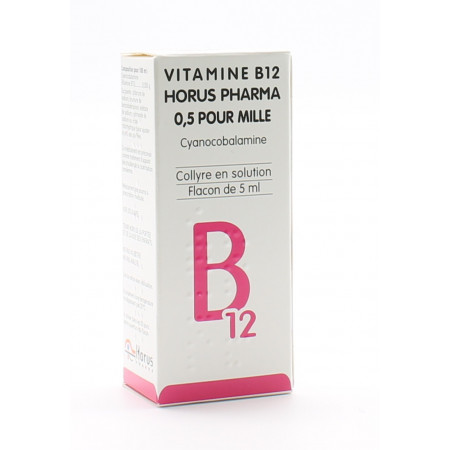 Horus Pharma Vitamine B12 0,5 pour Mille Collyre 5ml - Univers Pharmacie