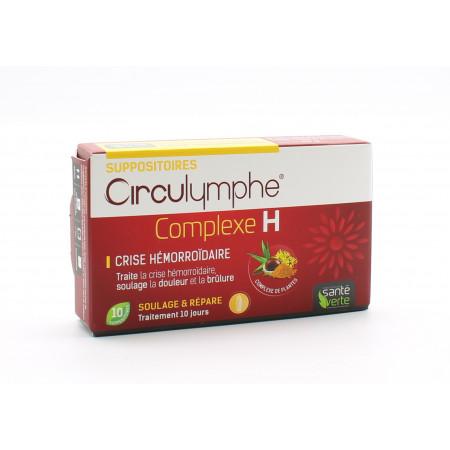 Santé Verte Circulymphe Complexe H 10 suppositoires - Univers Pharmacie