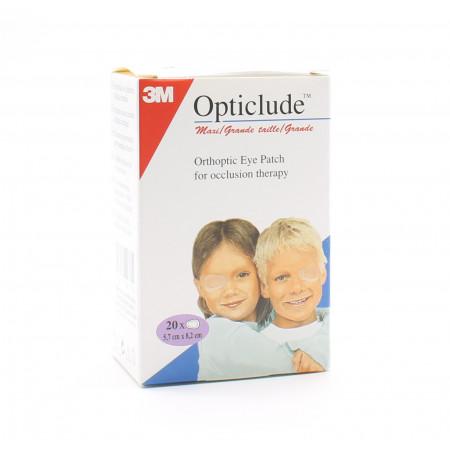 3M Opticlude Pansements Orthoptiques pour Adultes 5,7cmX8,2cm X20 - Univers Pharmacie
