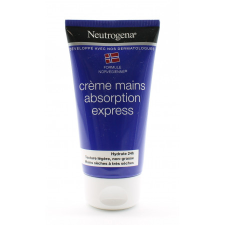 Neutrogena Crème Mains Absorption Express 75ml - Univers Pharmacie