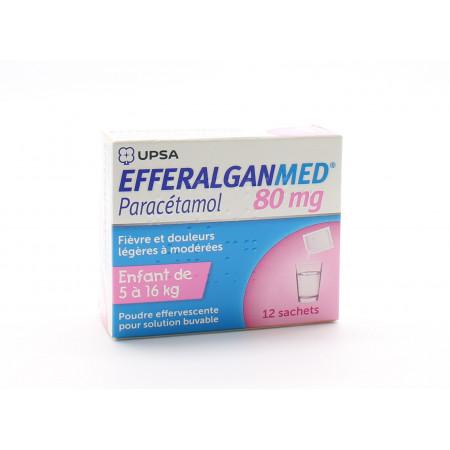 Efferalganmed 80mg 12 sachets - Univers Pharmacie