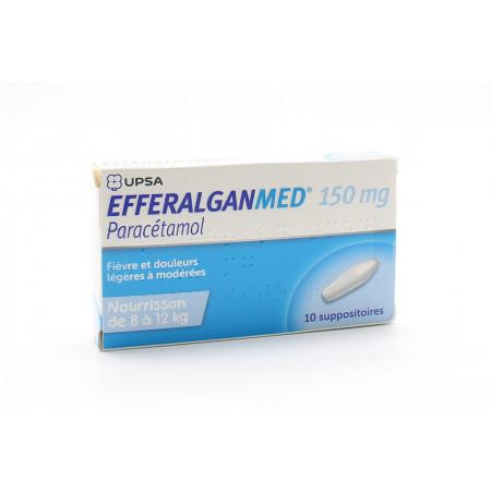 Efferalganmed 150mg 10 suppositoires - Univers Pharmacie