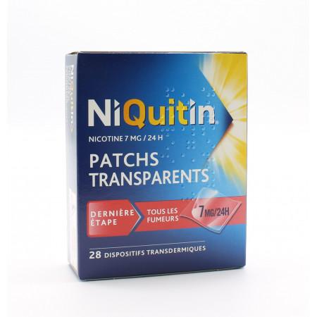NiQuitin Patchs Transparents 7mg 24h X28 - Univers Pharmacie