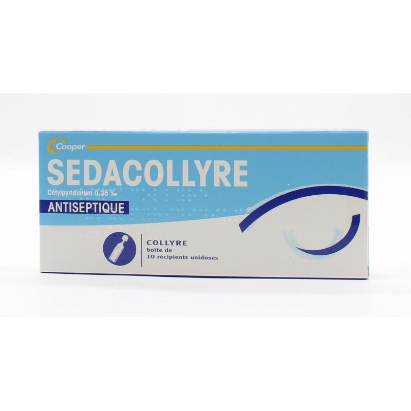 Cedacollyre Cetylpyridinium 0,25% Antiseptique 10 Unidoses