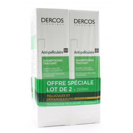 Dercos Anti-pelliculaire DS ShampooingTraitant Cheveux Secs 2X200ml