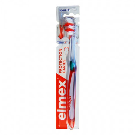 Brosse à Dents Souple InterX Anti-caries Elmex