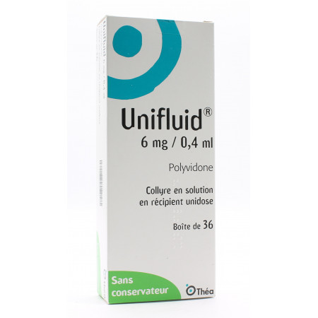 Unifluid 6mg/0,4ml Collyre en Solution 36 unidoses - Univers Pharmacie