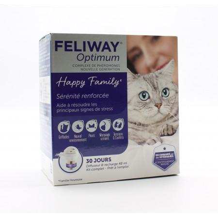 Feliway Optimum Happy Family Diffuseur et Recharge - Univers Pharmacie
