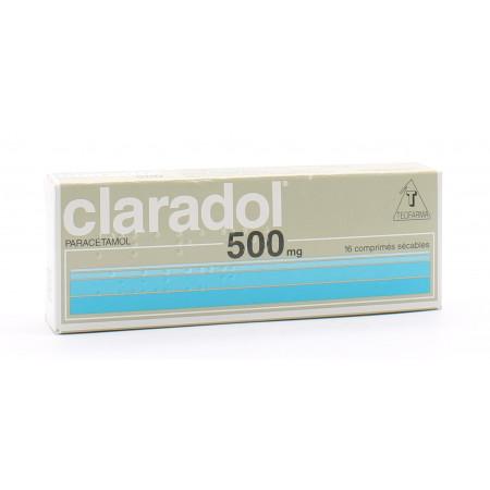 Claradol 500mg 16 comprimés sécables  - Univers Pharmacie