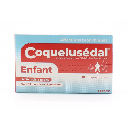 Coquelusédal Enfant 10 suppositoires - Univers Pharmacie
