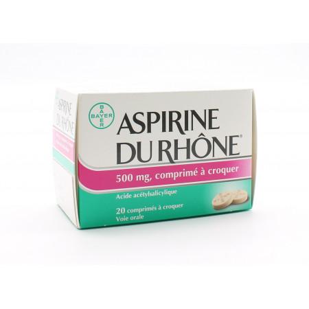 Aspirine du Rhône 500mg 20 comprimés à croquer - Univers Pharmacie