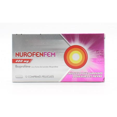 NurofenFem 400mg 12 comprimés - Univers Pharmacie