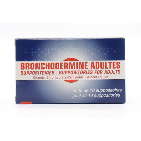 Bronchodermine Adultes 10 suppositoires - Univers Pharmacie