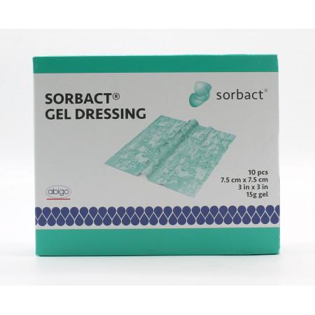 Sorbact Gel Dressing 7,5X7,5cm 10 pansements - Univers Pharmacie