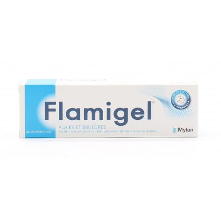 Flamigel Gel Cicatrisant Plaies et Brûlures 50g - Univers Pharmacie