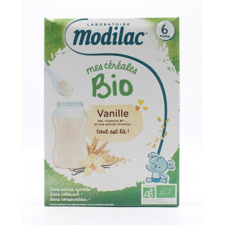 Modilac Mes Céréales Bio Vanille 250g - Univers Pharmacie