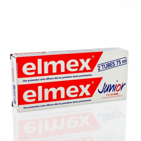 Dentifrice Elmex Junior 6-12 ans 2X75 ml