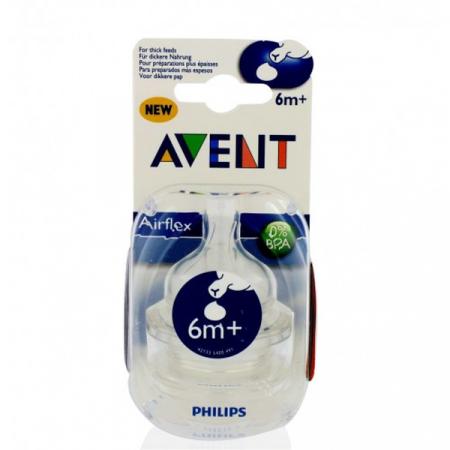 Tétine Classic+ Liquides Epaissis 6M+ Philips Avent X2