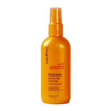 Spray Ultra-léger SPF50+ Soins Soleil Galénic 125 ml