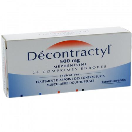 Décontractyl 500 mg 24 comprimés