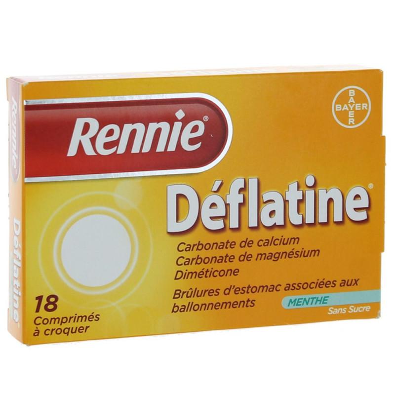 Rennie Déflatine sans sucre 18 comprimés