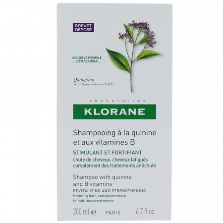 KLORANE SHAMPOOING QUININE VITAMINE B6 FLACON 200ML