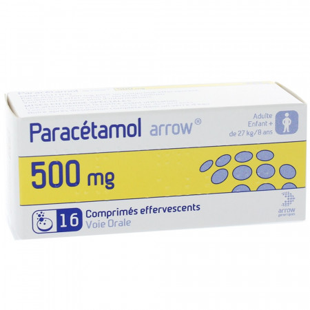 Paracétamol Arrow 500mg 16 comprimés effervescents