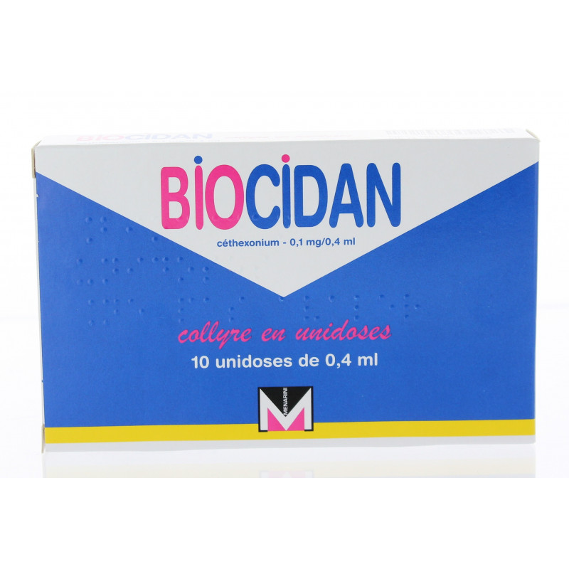 Biocidan 1 mg/0,4 ml Collyre 10Unidoses