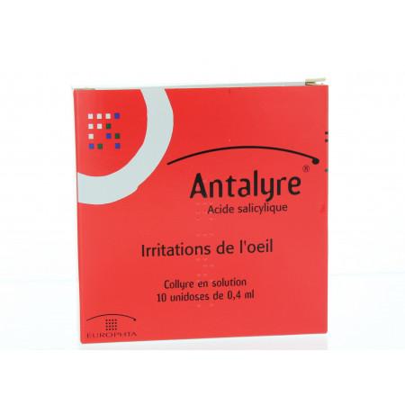 ANTALYRE Collyre en sol en récipient unidose 10Unidoses/0,4ml