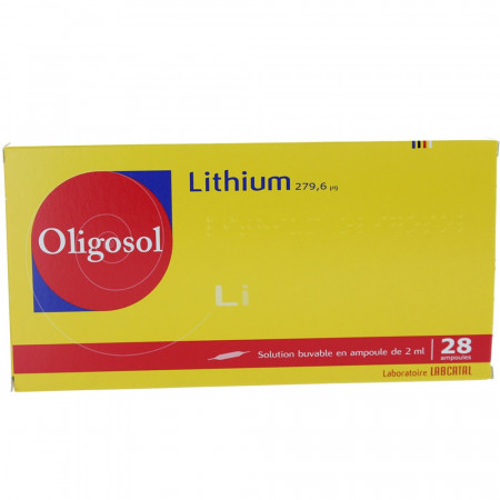 Lithium Oligosol Solution Buvable 28 ampoules