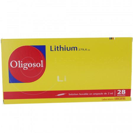 Lithium Oligosol Solution Buvable 28 ampoules