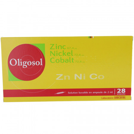 Oligosol Zinc Nickel Cobalt boite 28 ampoules