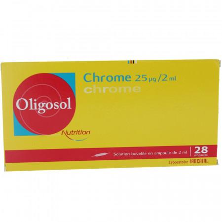 Oligosol Nutrition Chrome boite 28 ampoules