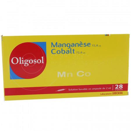 Oligosol Manganèse Cobalt boite 28 ampoules