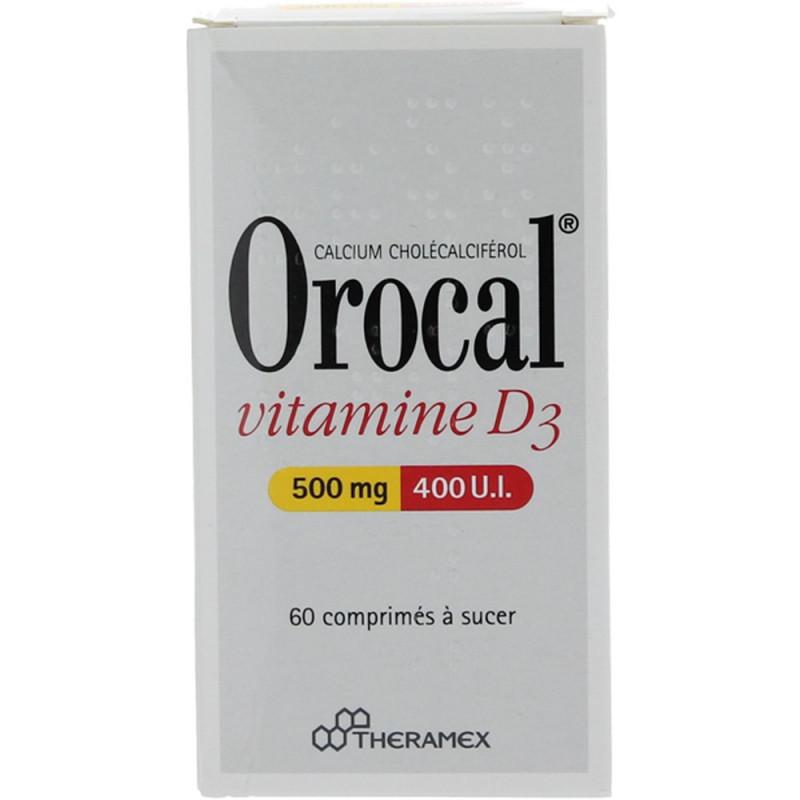 Orocal Vitamine D3 500 mg/400 UI 60 comprimés