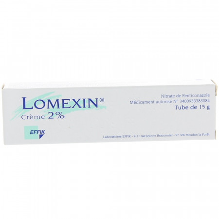 Lomexin crème 2% tube 15g