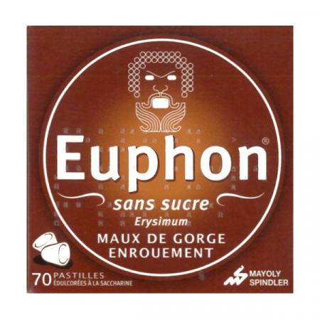 Euphon Erysimum sans sucre 70 pastilles
