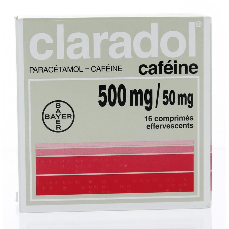 Claradol 500 mg caféine effervescent