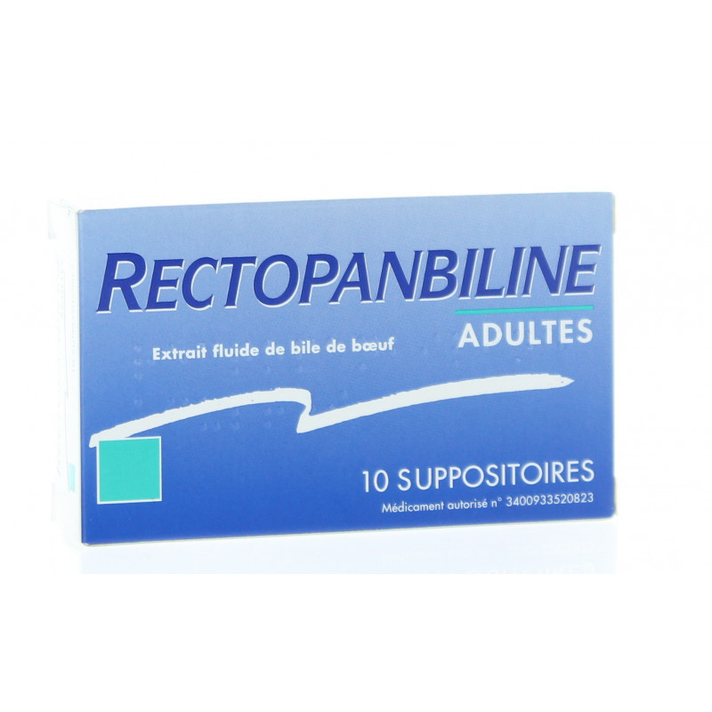 Rectopanbiline Adultes 10 suppositoires
